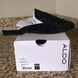 New ALDO black loafers